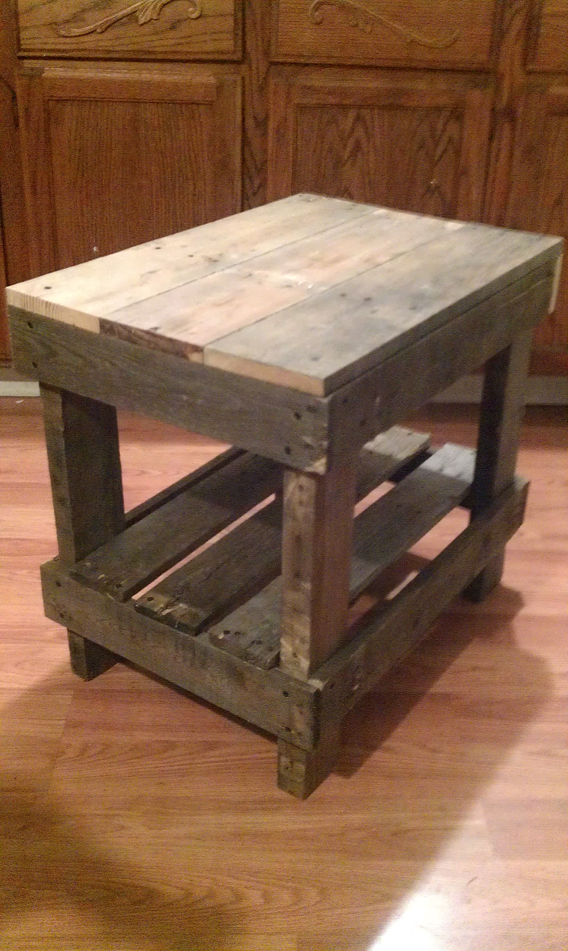 Diy End Tables Plans Pallet Wood End Table Pallet Diy Pinterest The End
