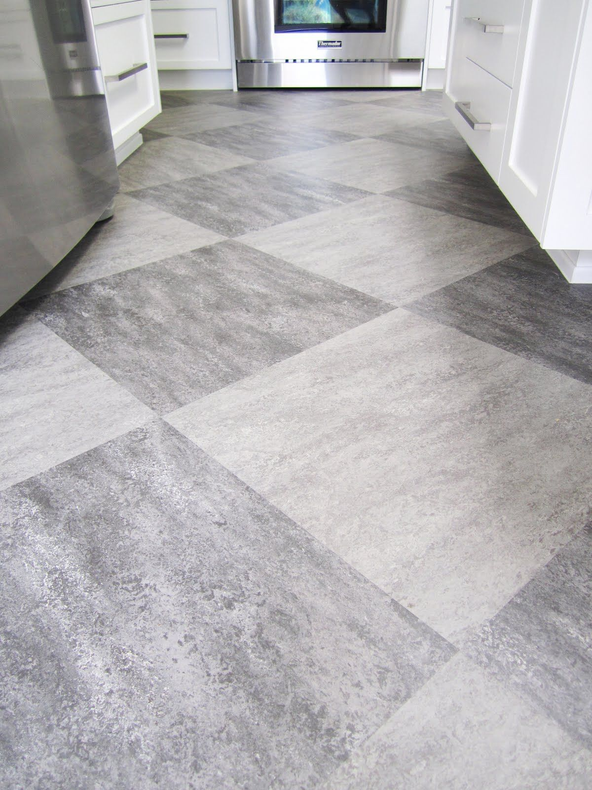 ... Kitchen Floor Lino Harlequin Tile Floors Harlequin Of Grey On Grey  Tiles Is Used On The ...