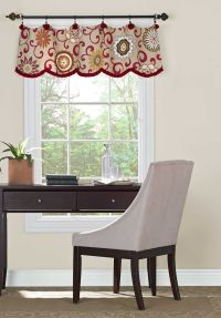 A valance doesn't have to be fixed on a board. Love the ...