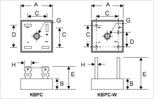 bridge rectifier wiring pinouts