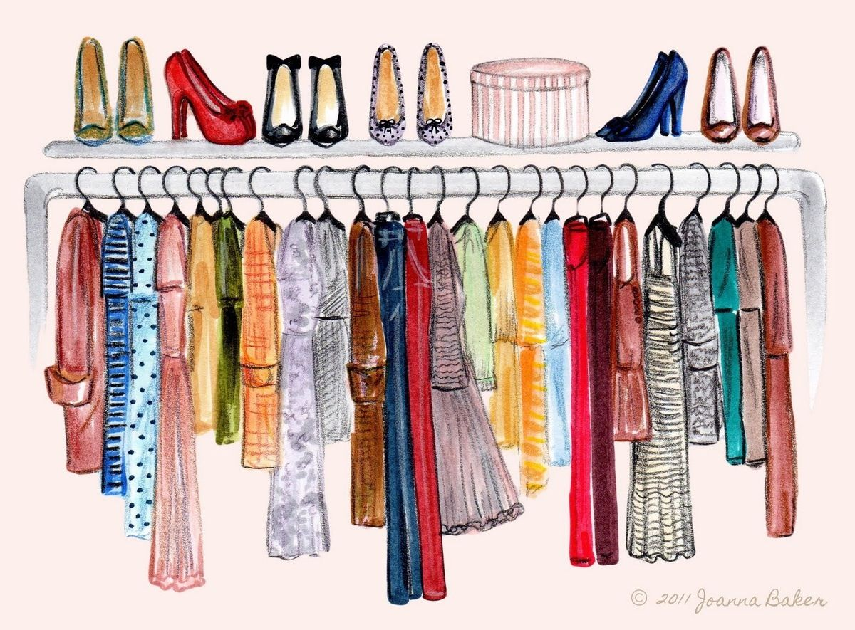 Dressing Point P Closet Illustration Sketches Pinterest