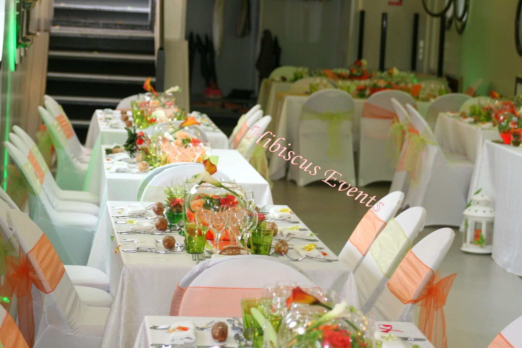Decoration Mariage Madras Decoration De Table Orange Et Vert