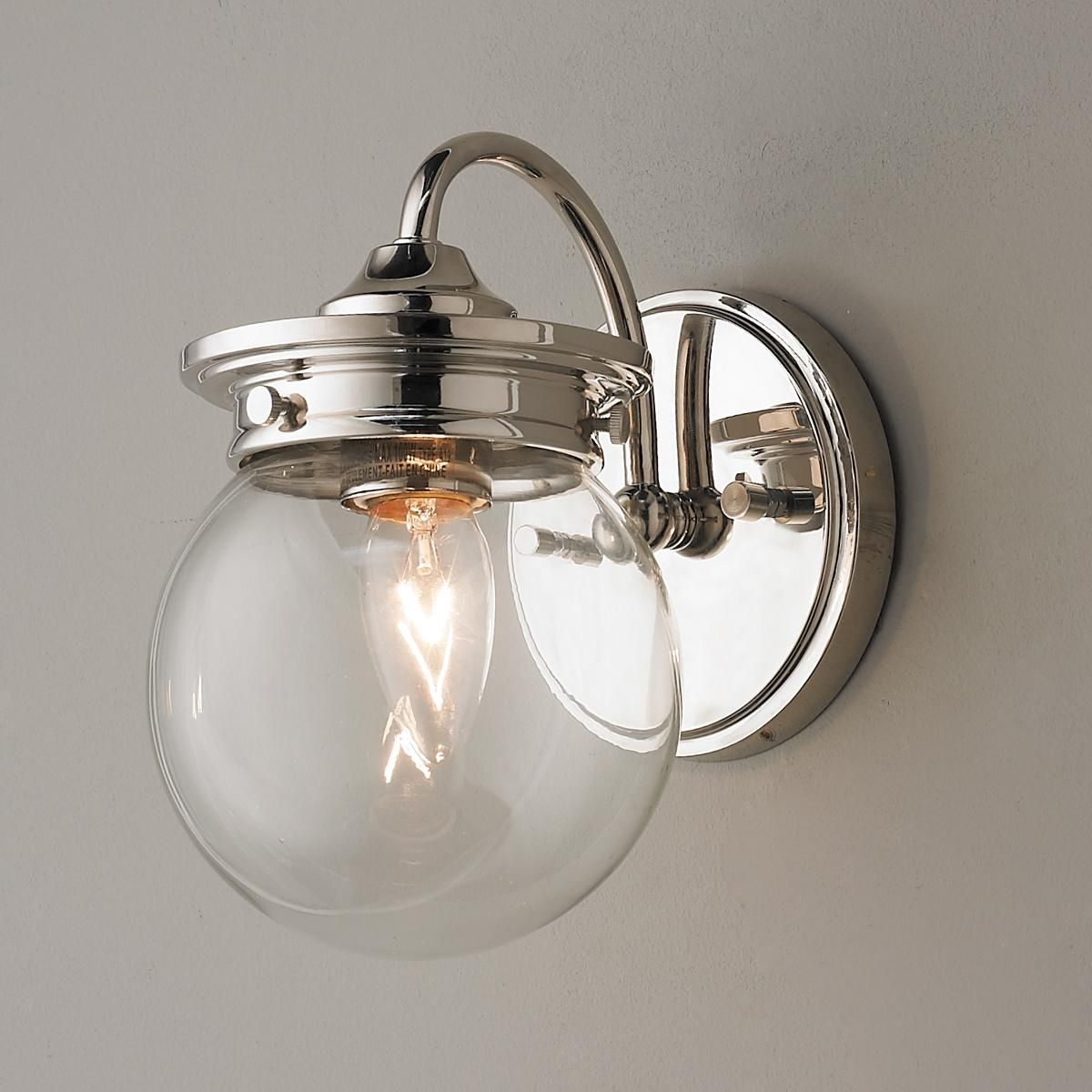 Traditional Clear Glass Globe Sconce Globe Traditional
