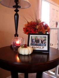 How To Decorate End Tables | fall centerpiece for the ...