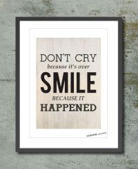 Wall Decor Poster Quote - Dr. Seuss - Don't Cry Because it ...