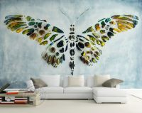 Personalized Custom Wall Murals 3D Butterfly Painting ...