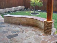 retaining wall with bench   12' White Austin Chopped Stone ...