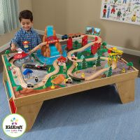 KidKraft Waterfall Station Train Set and Table (3+ Years ...