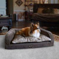 Kirkland Signature Soft Gray Bolstered Sofa Pet Bed ...