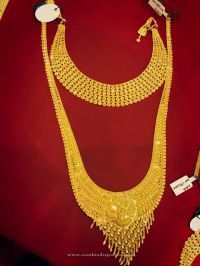 Gold Bridal Jewellery - Choker & Long Necklace | Gold ...
