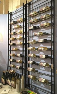 space saving wine rack, wall wine rack, metal wine rack ...