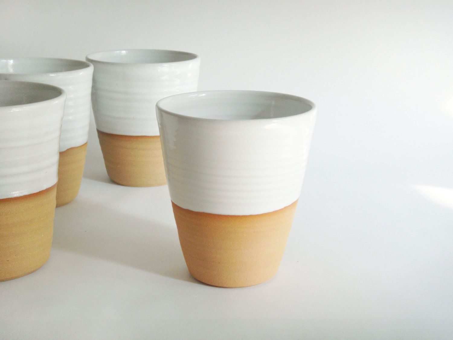 White Ceramic Coffee Cups Want Mug Without A Handle White Minimalist Ceramic