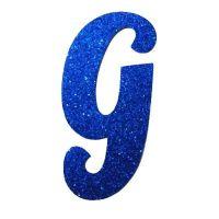 lLetra Cursiva em Gliter - G - Azul. Carregando. | Letras ...
