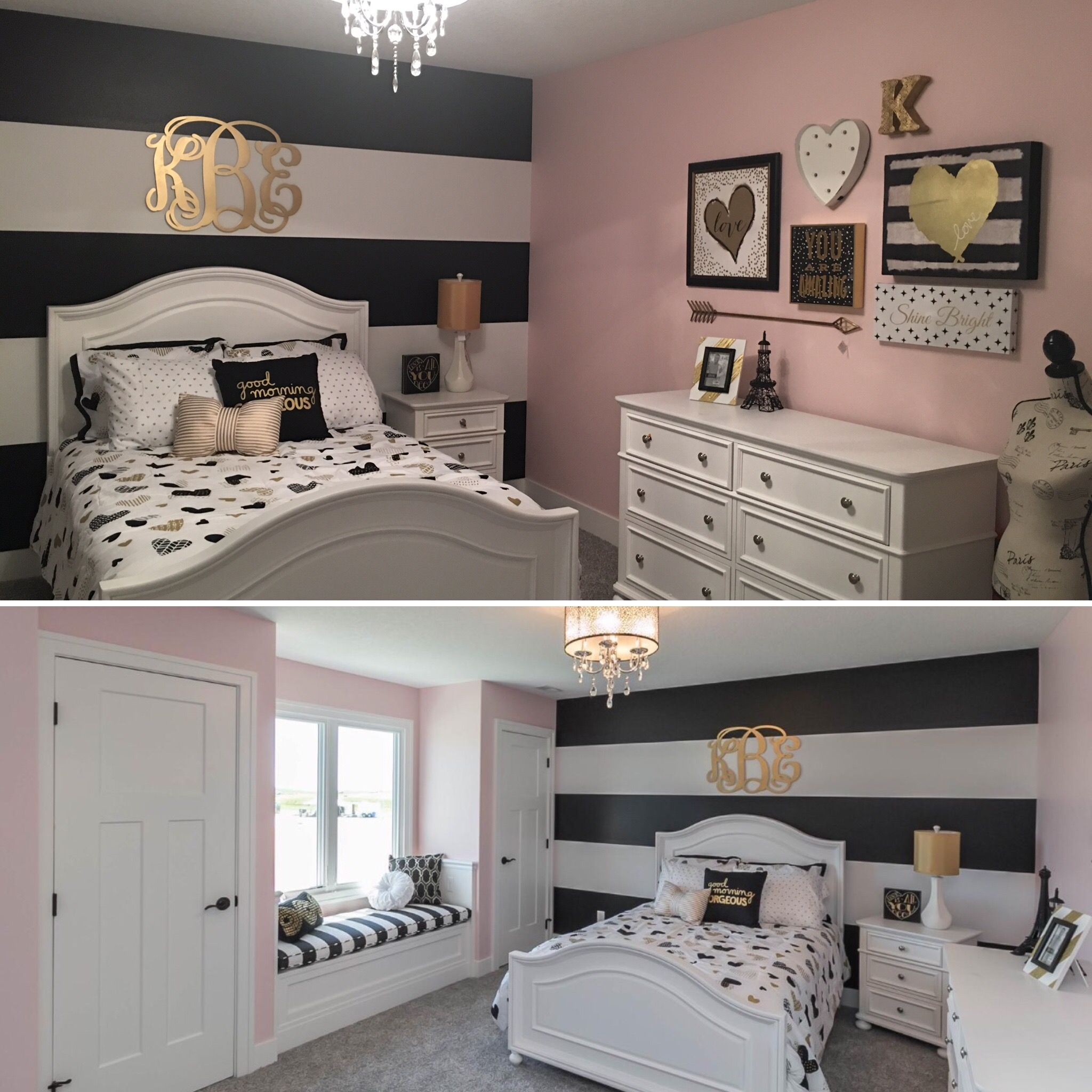 Black Bedroom Decor Ideas Girls Room With Black And Gold Accents All Very
