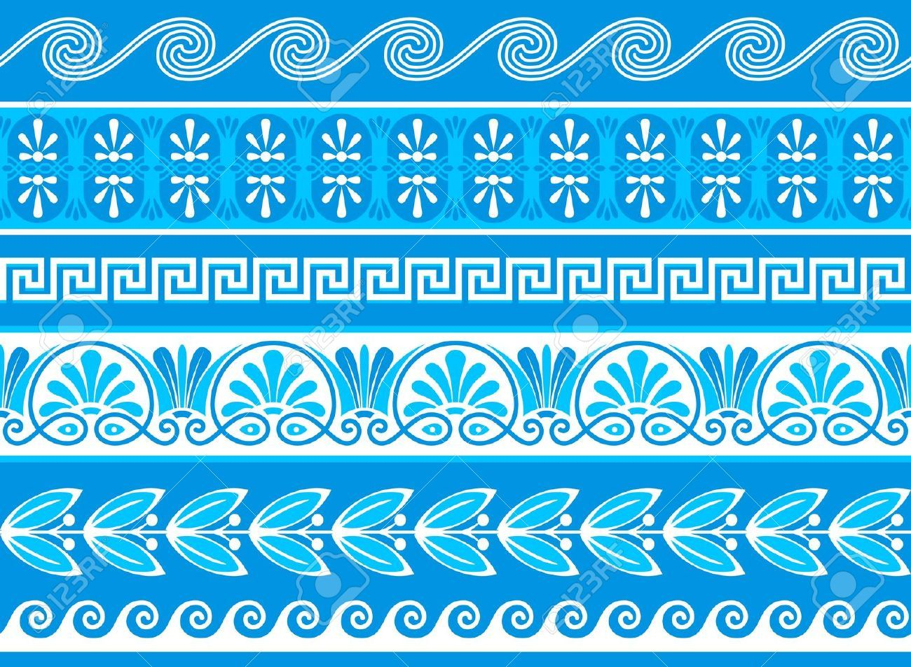 Griechische Muster 13748375 Decorative Greek Borders Done As Samples Stock