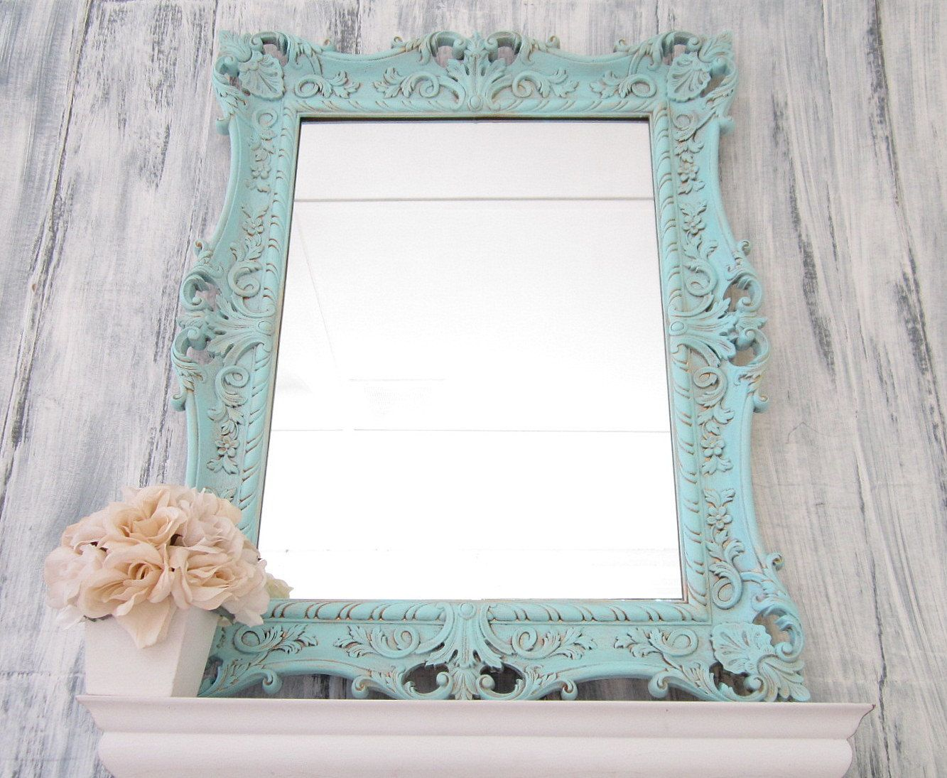 Decorative Bathroom Mirrors Sale Teal Blue Mirror French Country Home Mirror For Sale