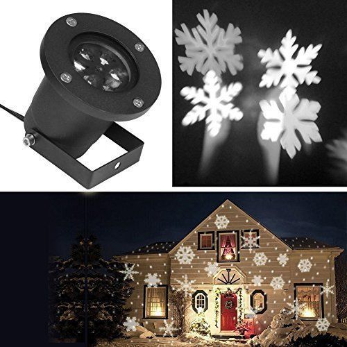 Christmas Light Projector Halloween LED Show Waterproof Snowflake - christmas decoration projector