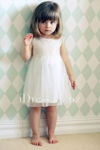 ivory lace and chiffon short sleeve toddler flower girl ...