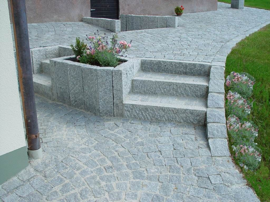 Gartenweg Pflastern Anleitung Vorgarten Pflastern Kosten Weg