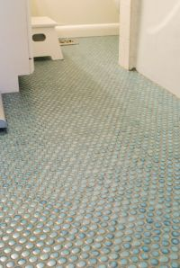 Penny tile bathroom floor. I've been thinking about this ...