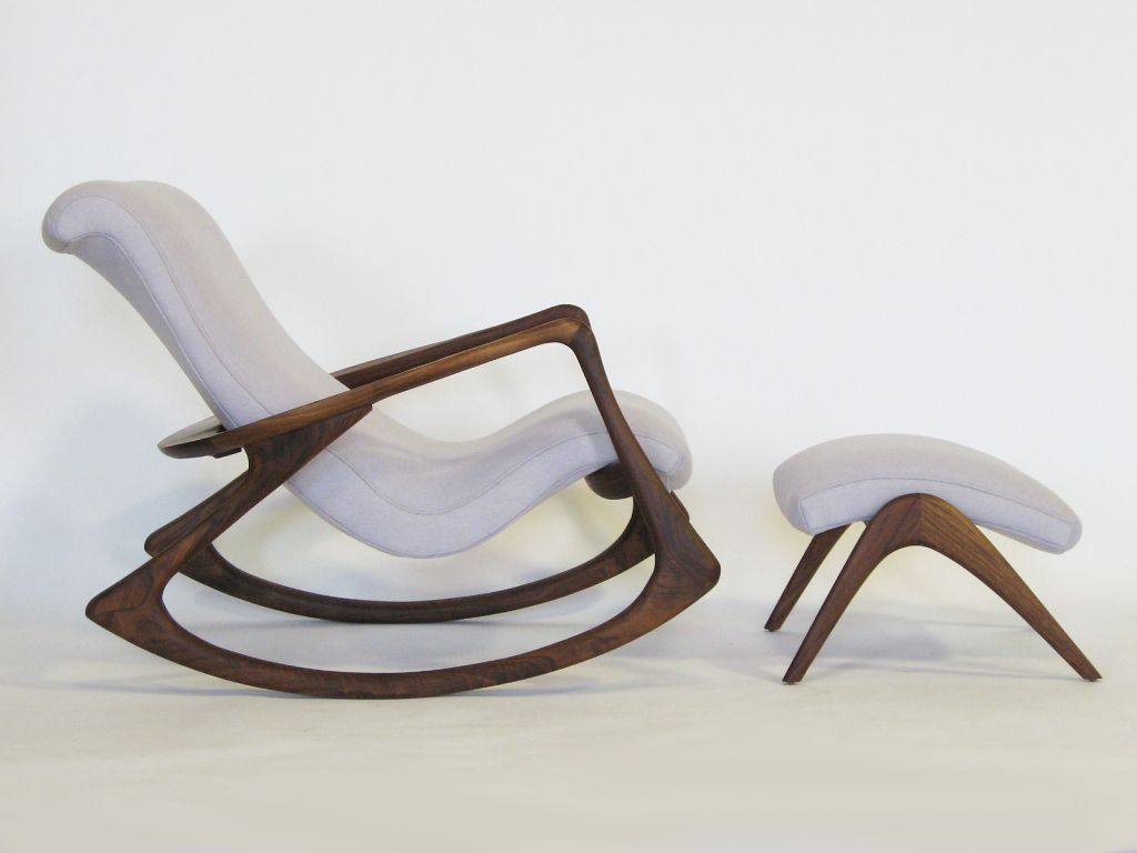 By Rocking Chair Contour Rocking Chair And Ottoman By Vladimir Kagan
