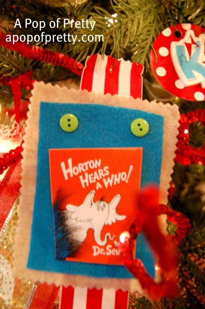 How to Make Dr Seuss Christmas Tree Decorations A Tutorial - dr seuss christmas decorations