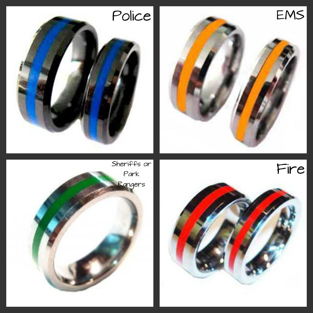 law enforcement wedding bands Brotherhood Bands www abrotherhood com Enter coupon code FCIB at checkout to receive a Police
