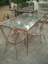 Fabulous chantily rose woodard patio vintage mid-cent ...
