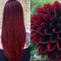 wine red hair on pinterest burgundy hair colors cherry ...