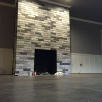 My after fireplace project. Painted each brick with ...