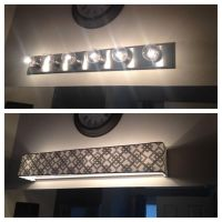 Custom lamp shades - Fabric - Light Covers - Bathroom ...