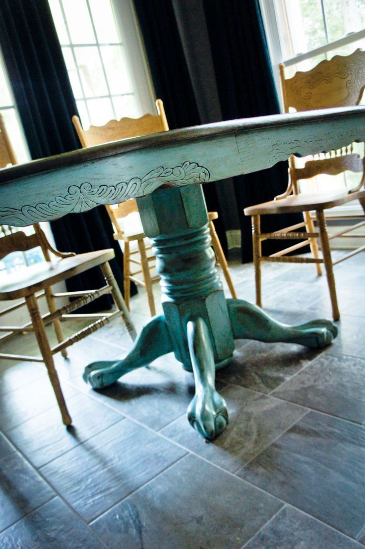 redo kitchen table claw foot dining table redo Kitchen Table Redo Duck Egg Blue Hmm