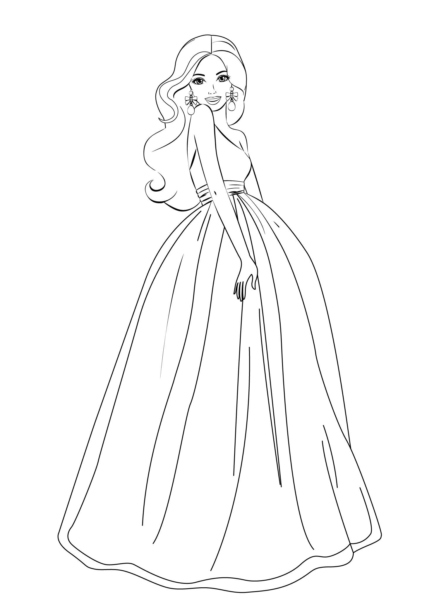 Barbie princess coloring pages to print - Barbie Coloring Pages For Girls Free Printable