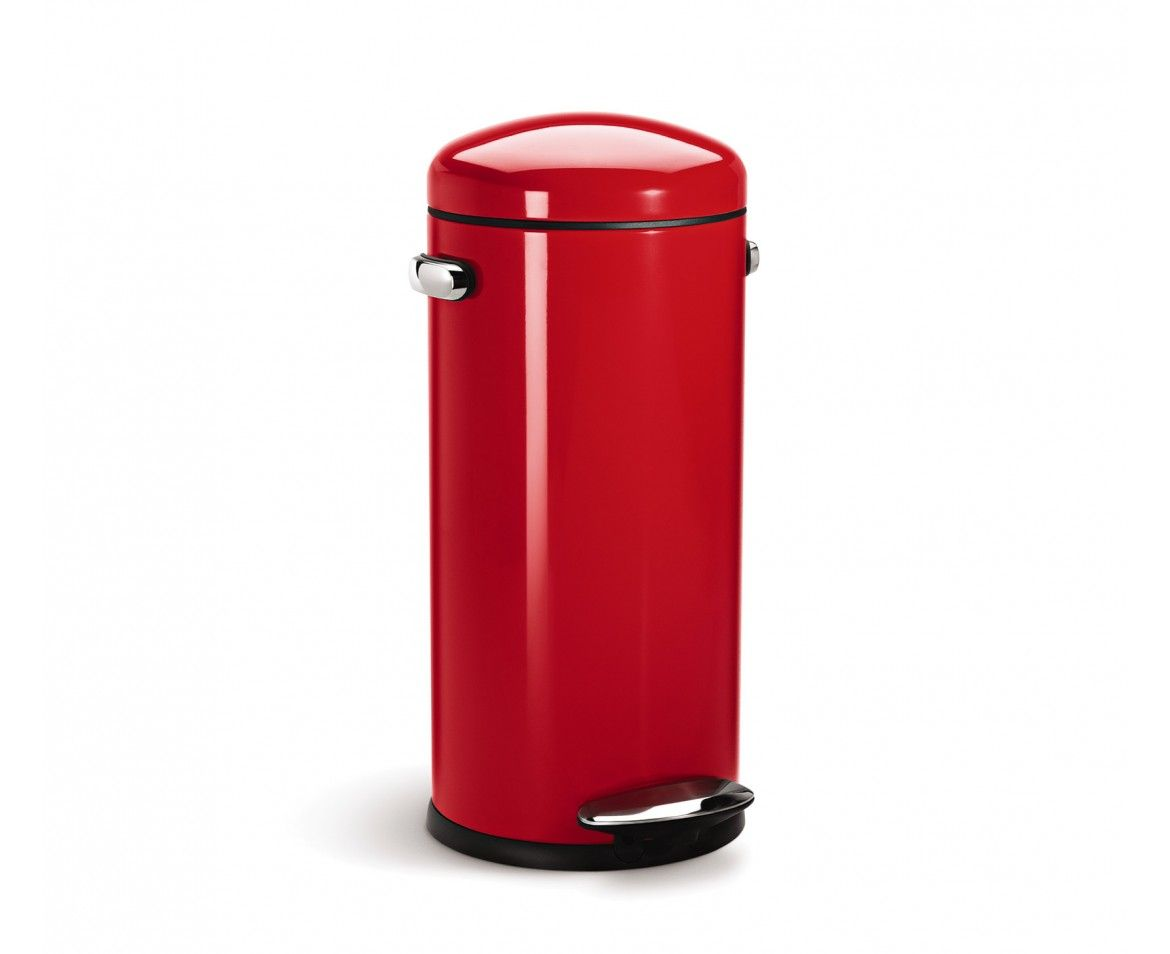 Vintage Kitchen Trash Can Simplehuman 30l Red Steel Retro Step Trash Can Why Get A