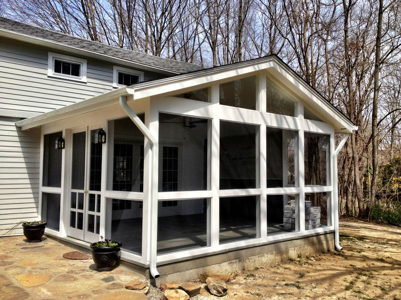 Patio Screening Ideas Screened Porch Attach It Off The Master Bedroom
