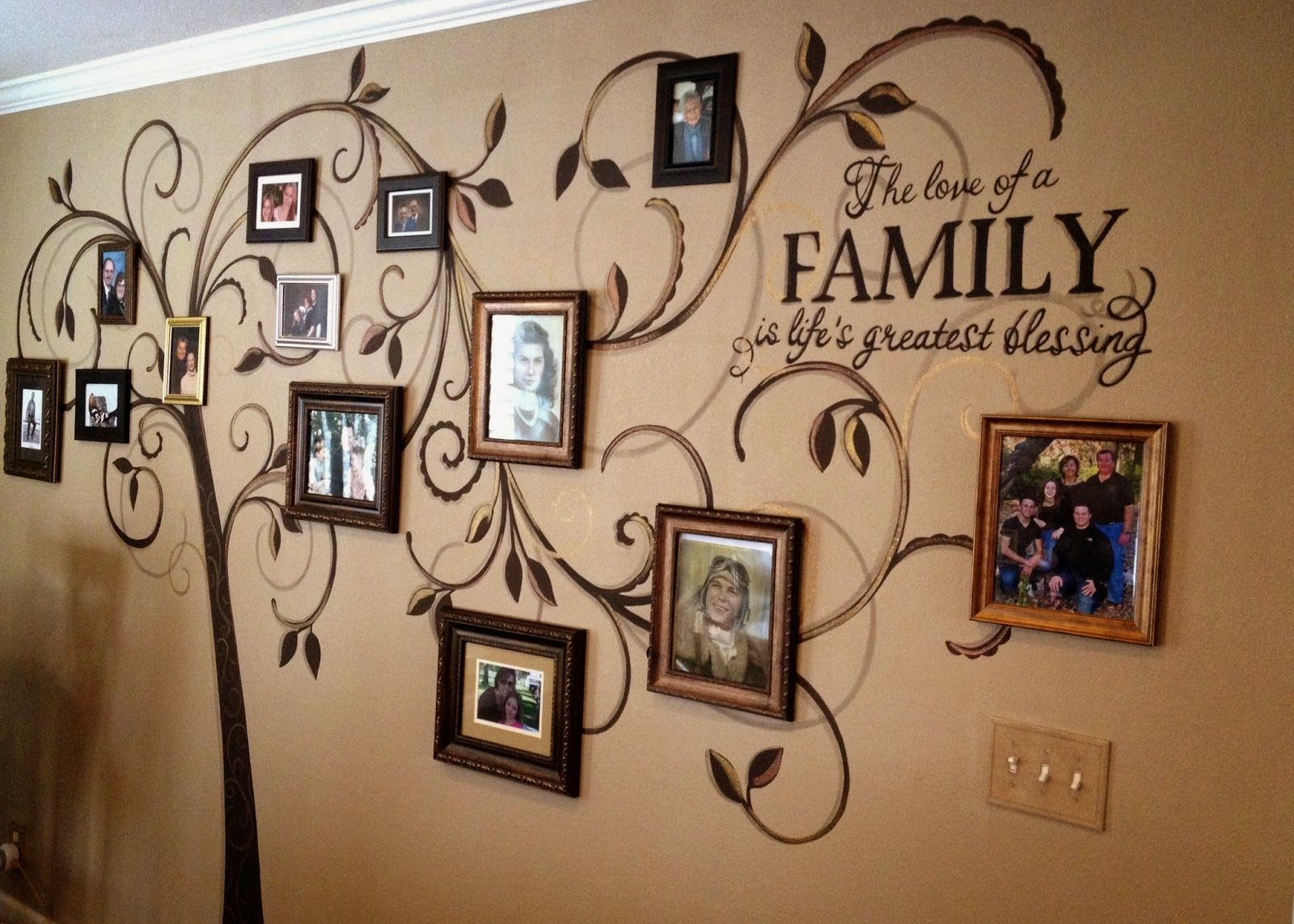 Photo Mural Family Tree Mural On Pinterest Family Tree Decal