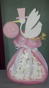 Stork Centerpiece for Baby Shower idea >> Love this.. and ...