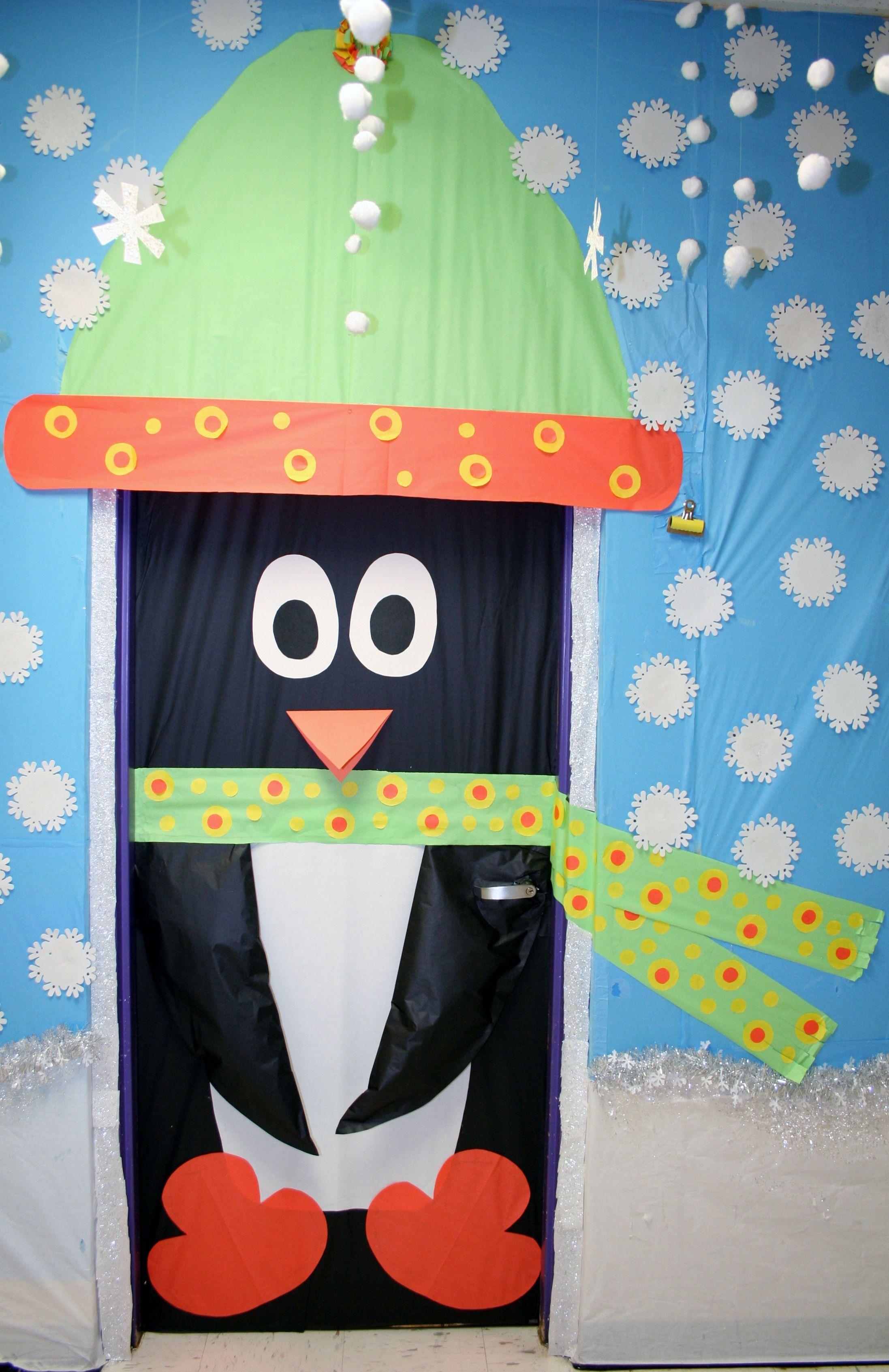 Classroom Penguin Door Decoration