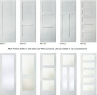 Painted doors with glass--3 panel or glass only at top if ...