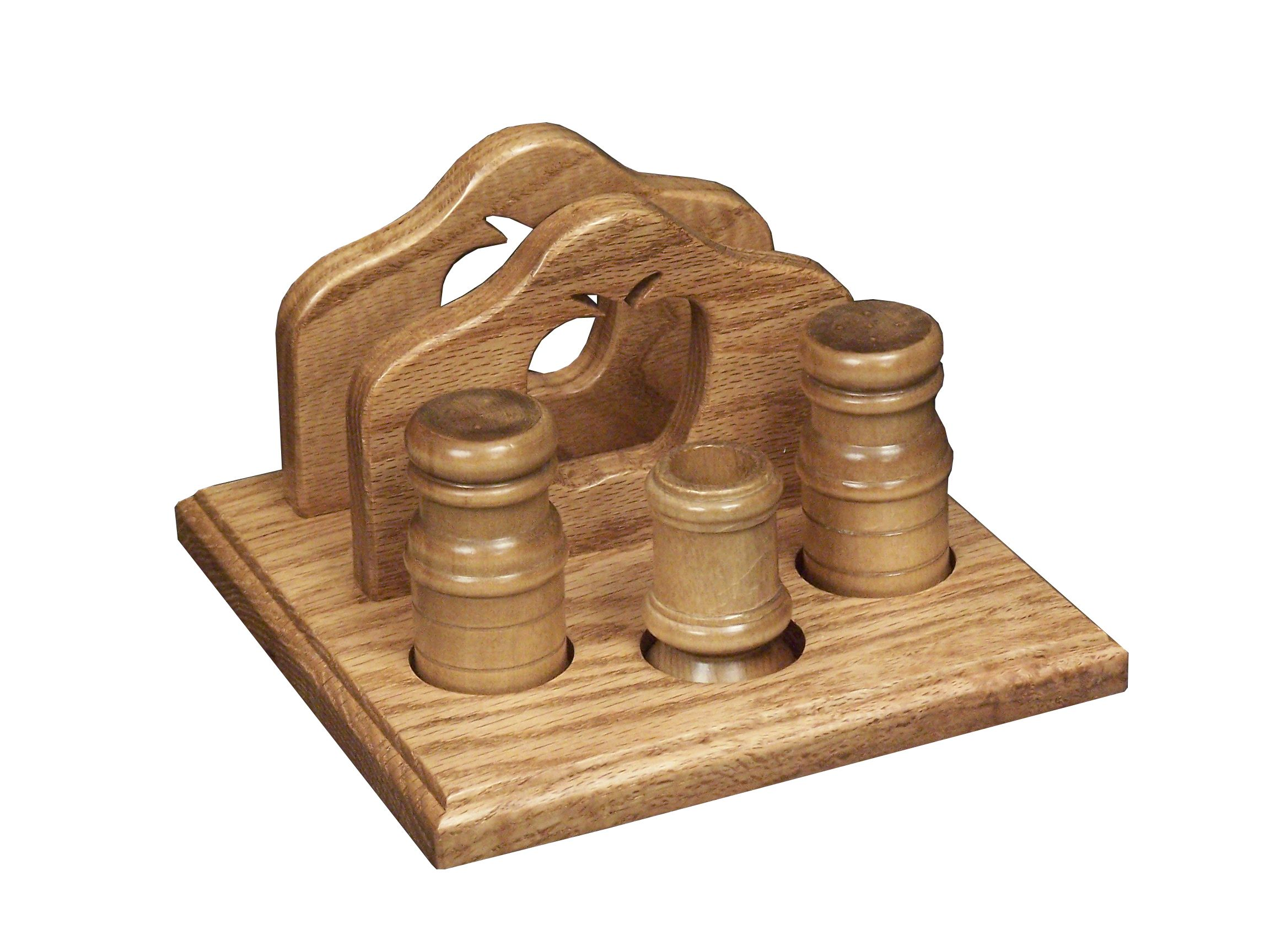 Salt Pepper Holder The Napkin Holder With Apple Design Includes A Salt And