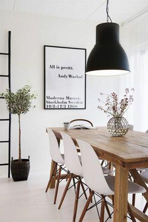 skandinavisches design esszimmer holz esstisch mit stühlen - esszimmer aus holz