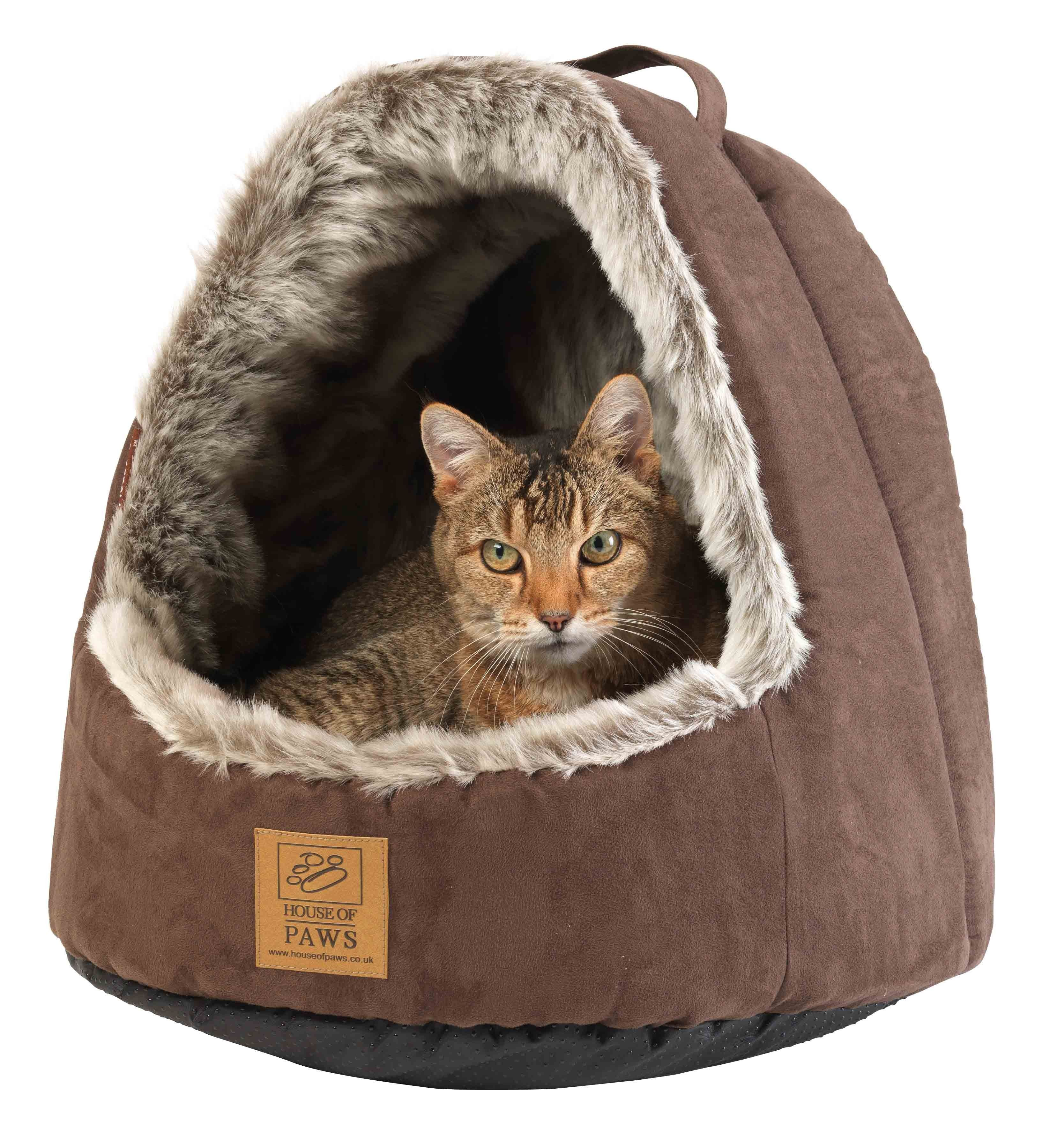 Cat Beds And Furniture Hooded Cat Bed Gato Cama Pinterest Cat Beds Beds