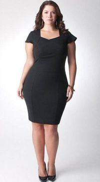 simple plus size little black dresses | syning | Pinterest ...