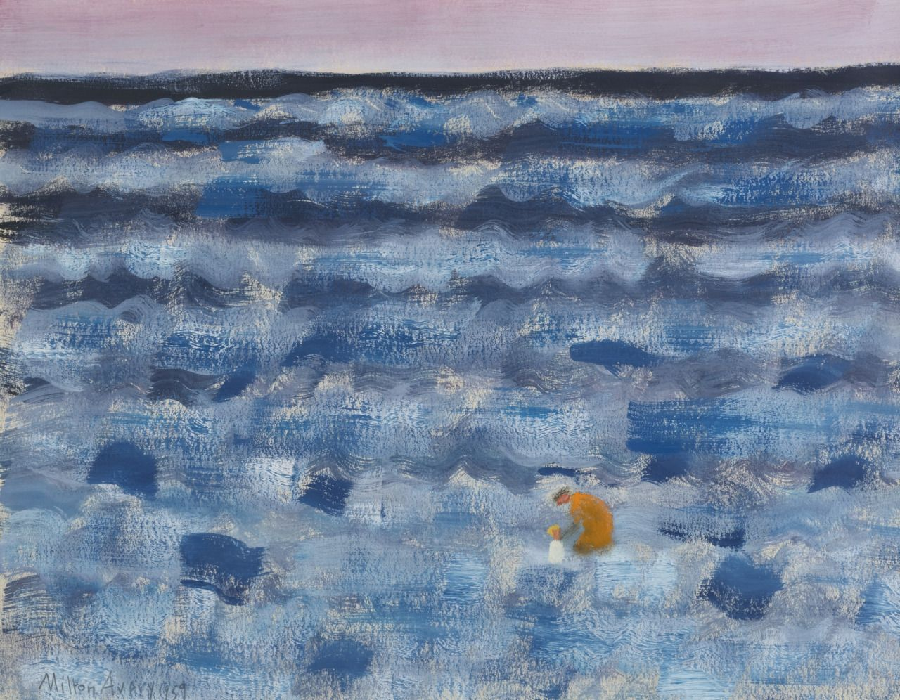 Fairfield Porter Still Life Huariqueje Small Figures In A Big Sea Milton Avery 1959