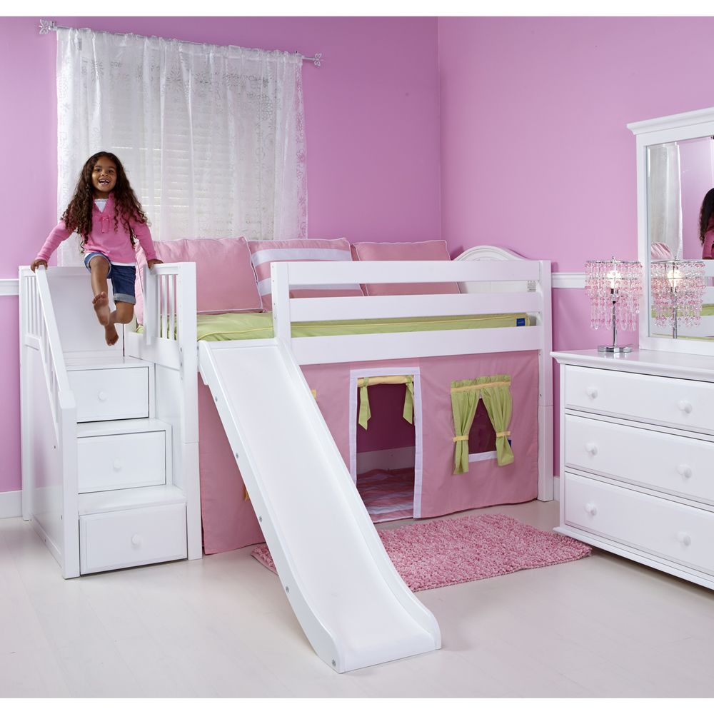 Bunk bed with stairs and slide zzvgmfax