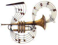 Music Metal Wall Art - Trumpet Notes | MUSICAL STUFF ...