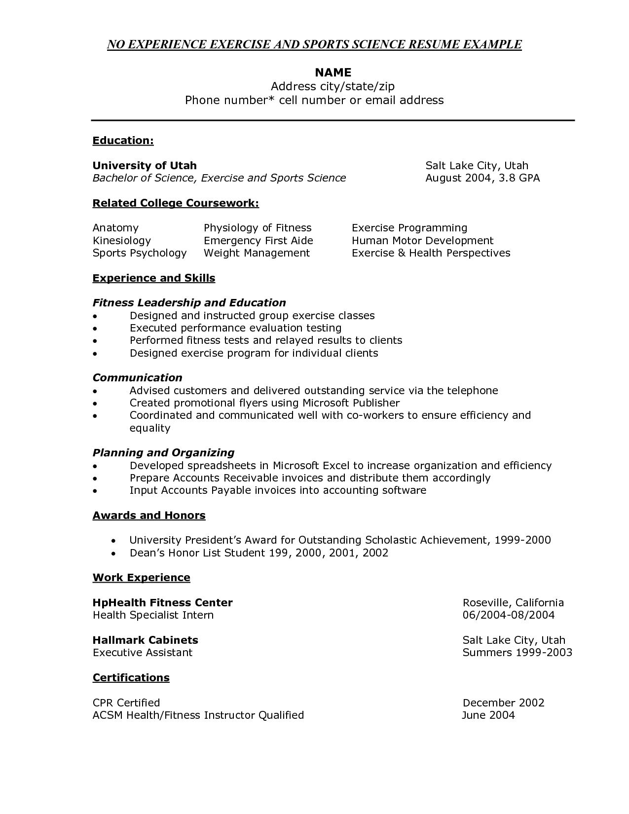 resume samplesample for fresh graduate sample