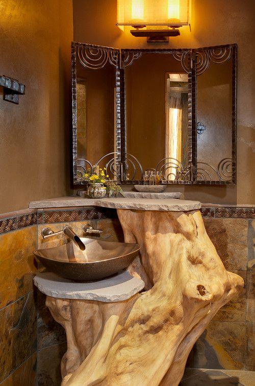 35 Unique Bathroom Sink Designs For Your Beautiful Bathroom - small rustic bathroom ideas