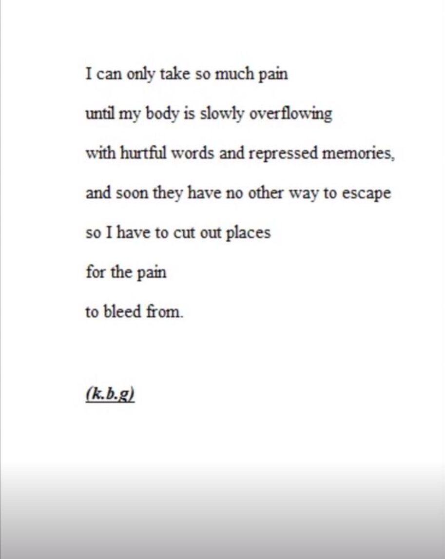 Depression quote cutting cutting quotesemo