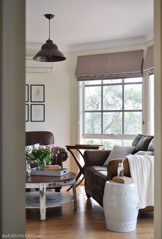 Neutral country cottage style living room Neutral Rooms - cottage living room ideas